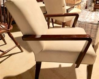 135. 4 Contemporary Ultrasuede Armchairs AS IS (21'' x 21'' x 32''),   $ 200.00
