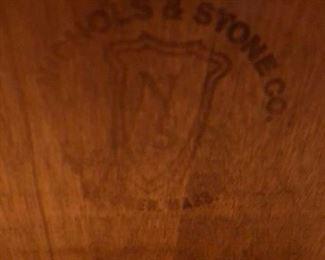 148. Nichols and Stone Wood Rocking Chair,   $ 150.00