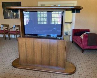 101. Contemporary Console TV Table (73'' x 23'' x 35''),  $ 900.00