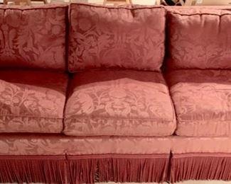160. Avery Boardman 3 Cushion Sofa w/ Bullion Fringe (90'' x 40'' x 29''),  $ 2,000.00