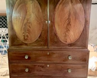 178. Chest of Drawers w/ Cabinet & Oval Inserts,  $ 2,600.00