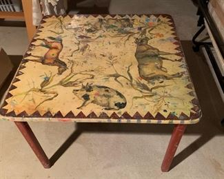 113. Custom Painted Childs Play Table,  $50.00