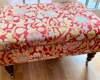 175. Upholstered Ottoman on Casters (35'' x 22'' x 19''),   $ 400.00