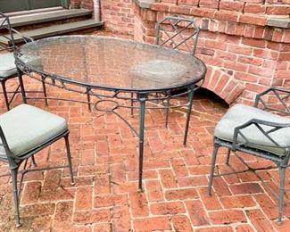 140. Brown Jordon Oval Plexiglass Outdoor Table,  $ 800.00