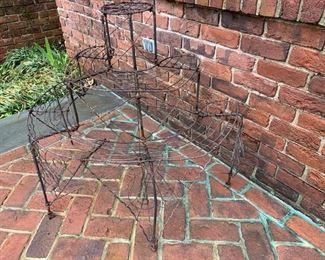 205. Three Tier Wire Plant Stand,   $ 75.00