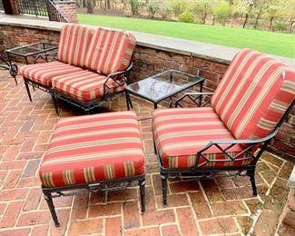200. Brown Jordan Calcutta Chair and Ottoman,   $ 800.00