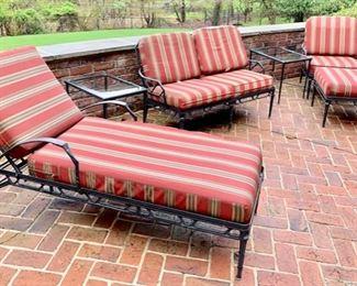 201. Brown Jordan Calcutta Chaise Lounge, $ 1,100                              202. Pair of Brown Jordan Side Tables,  $ 600.00                                158. Brown Jordan Calcutta Loveseat,  $ 800.00