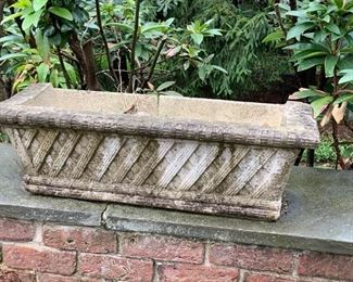 198. Pair of Rectangular Cement Planters (As Is),  $ 120.00