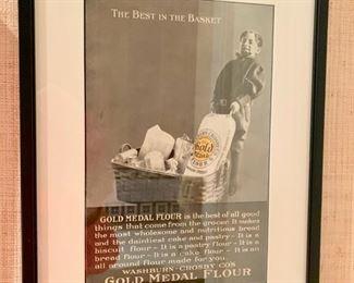 """23. Vintage """"Gold Medal Flour"""" Print,  $ 60.00"""