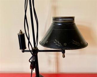176. Vintage Black Metal Lamp (21''),  $ 70.00