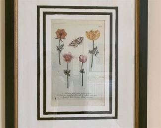108. Pair of Green & Gold Framed Botanicals (24'' x 29''),  $ 380.00