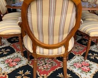 6. 10 Side, 2 Arm Federal Style Dining Room Chairs, $ 4,500.00
