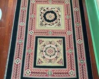 68. Black, Red & Sage Design Rug (53'' x 35''),  $ 75.00