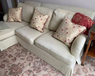 86. 2 Pc. 3 Cushion Sectional w/ Quilted Upholstery (96'' x 60'' x 34''),  $ 800.00