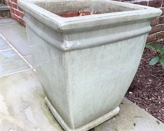 215. Tall Square Ceramic Planter,    $ 80.00