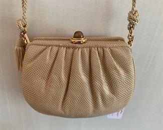 Judith Leiber Cream Textured Bag (good condition) (7'' x 6'') $150