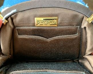 Judith Leiber Brown Velvet Evening Bag (very good condition) (8'' x 6'') $220