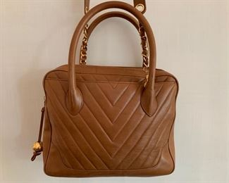Chanel Caramel Quilted Leather (12'' x 9'') $850