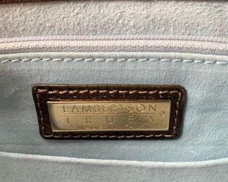 Lambertson Truex Brown Leather Handbag w/ Adjustable Shoulder Strap (12'' x 8'') $160