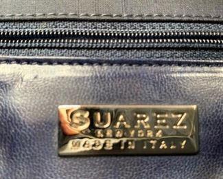 Suarez Navy Shantung Silk Handbag (7'' x 7'') $60