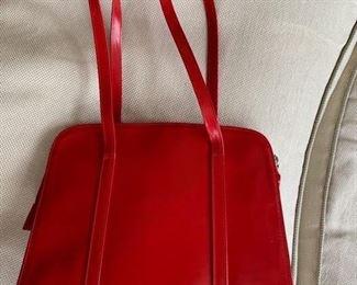 Saks Fifth Avenue Red Handbag (12.5'' x 11'') $60