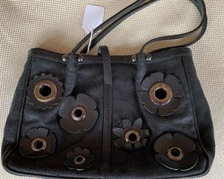 Renaud Pellegrino Black Woven Handbag (11'' x 6'') $50