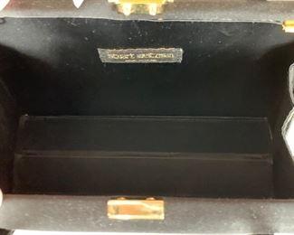 Stuart Weitzman Black Satin Handbag (8.5'' x 6'') $60