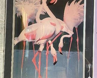 "$40. Kirk Miller Print with silver trim frame. 23""W x 36""H"