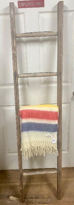 """$65. Vintage barn wooden ladder. 16""""W x 68""""H"""