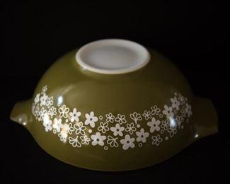 G5Vintage Pyrex Green 4Qt  Crazy Daisy Mixing Bowl$24.95