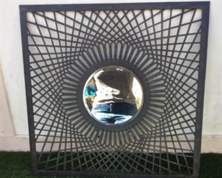 Pottery barn mirror reflecting photographers torso, still has price tag on back, mirror has flecked finish to avoid glare, paid 99.00 like new, $35.00 SALE $25.00