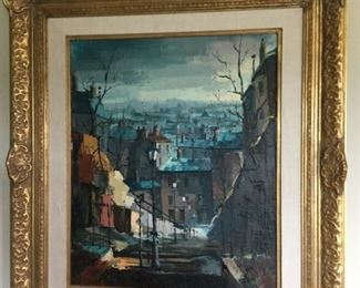 L Florian original painting in amazbo frame, nameplate, $350.00 SALE $300.00