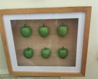 Shadow box green apples measures 12 wide by 11 tall by 2 deep $15.00 SALE $10.00