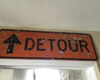 Metal sign retired from duty is rough but ready $25.00SALE $20.00