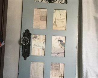 """On Hold Six 3 1/2 x 5 1/2"""" picture slots on follow door measures 15 x 32 inches $15.00 SALE $10.00"""