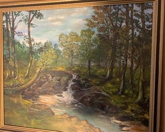 """Original oil painting.   26"""" H by 29 1/2"""" W. Priced at $150"""
