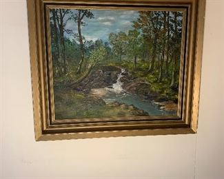 """Original oil painting.   26"""" H by 29 1/2"""" W  Priced at $150."""