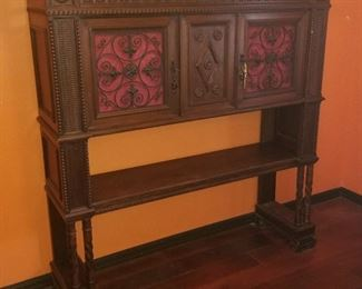 ANTIQUE ENGLISH HIGH-LEGGED CORT CABINET - $ 975.00 -- PLEASE CALL 407.865.1004 FOR BEST PRICE.