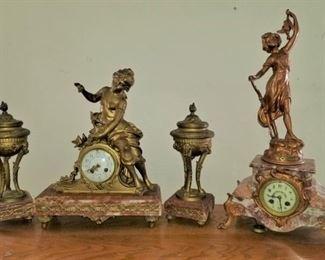 Rouge marble clocks