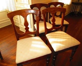 Group of Four 19th c. Chairs $95