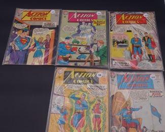 1.$50 Lot of 5 - DC Action Comics: No. 307, 310, 311, 313, 316