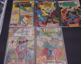 3.$108 Lot of 5 - DC Action Comics: No. 381, 382, 383, 384, 385