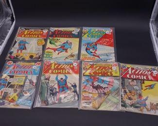 5.$58 Lot of 7 - DC Action Comics: No. 422, 423, 424, 425, 427, 432, 433