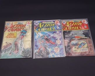 6.$44 Lot of 3 - DC Action Comics: No. 439, 440, 442