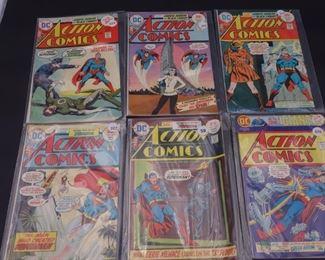 7.$74 Lot of 6 - DC Action Comics: No. 444, 445, 446, 447, 448, 449