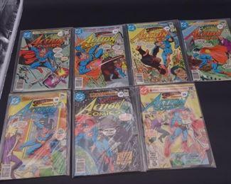 11.$54 Lot of 7 - DC Action Comics: No. 504, 505, 506, 507, 508, 509, 512