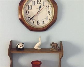 Cute shelf, wall clock