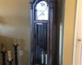 "82"" vintage  Molyneux grandfather clock with moon face 900.00"