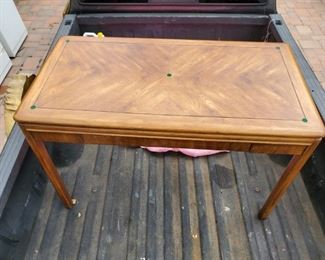 Drexel Passage Desk With Glass Top - $250
