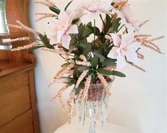 Crystal Vase with Silk Arrangement $20.00 -Now 75% Off